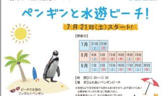 ペンギン水遊