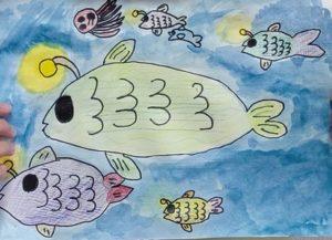 岩永あかり さん(小4) 海にはゴミがなく魚たちが楽しくくらせるようにしたいです